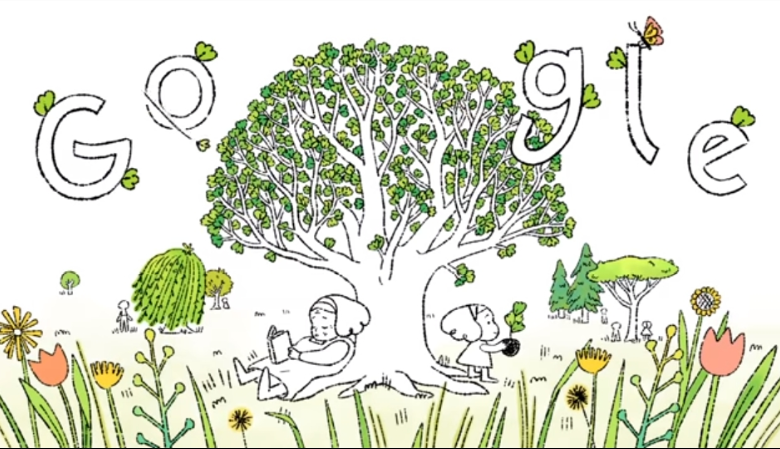 Google change his doodle on earth day