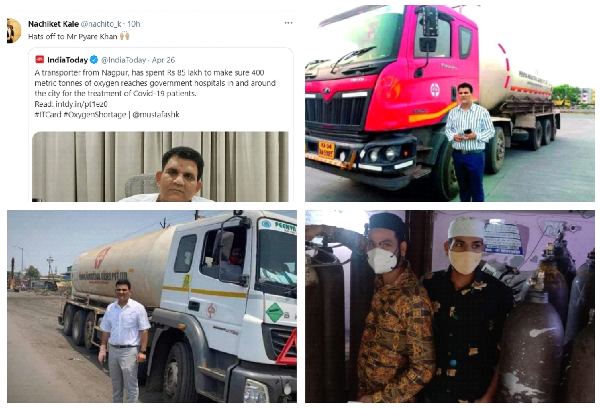 Pyaray khan free oxygen tanker in covid 19 for india