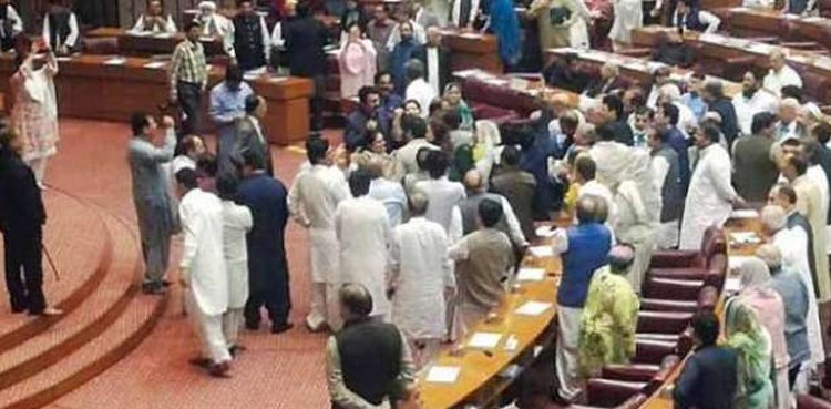 Fight in National Assembly, members banned
